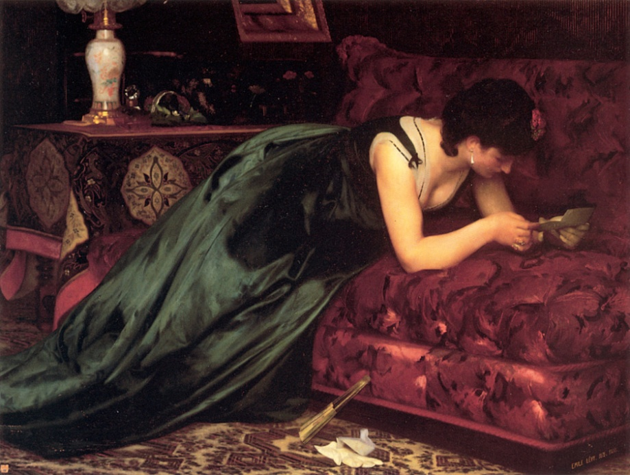 emile-levy-french-1826-1890-e28093-the-love-letter