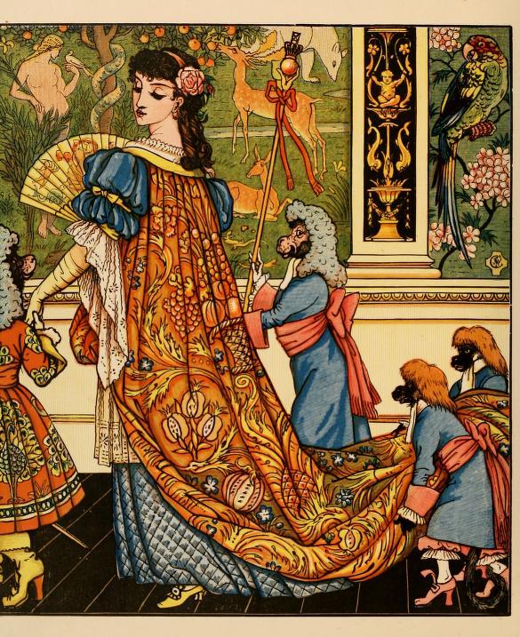 """""""Die Schöne und das Biest"""" Illustrationen von Walter Crane 1874"""