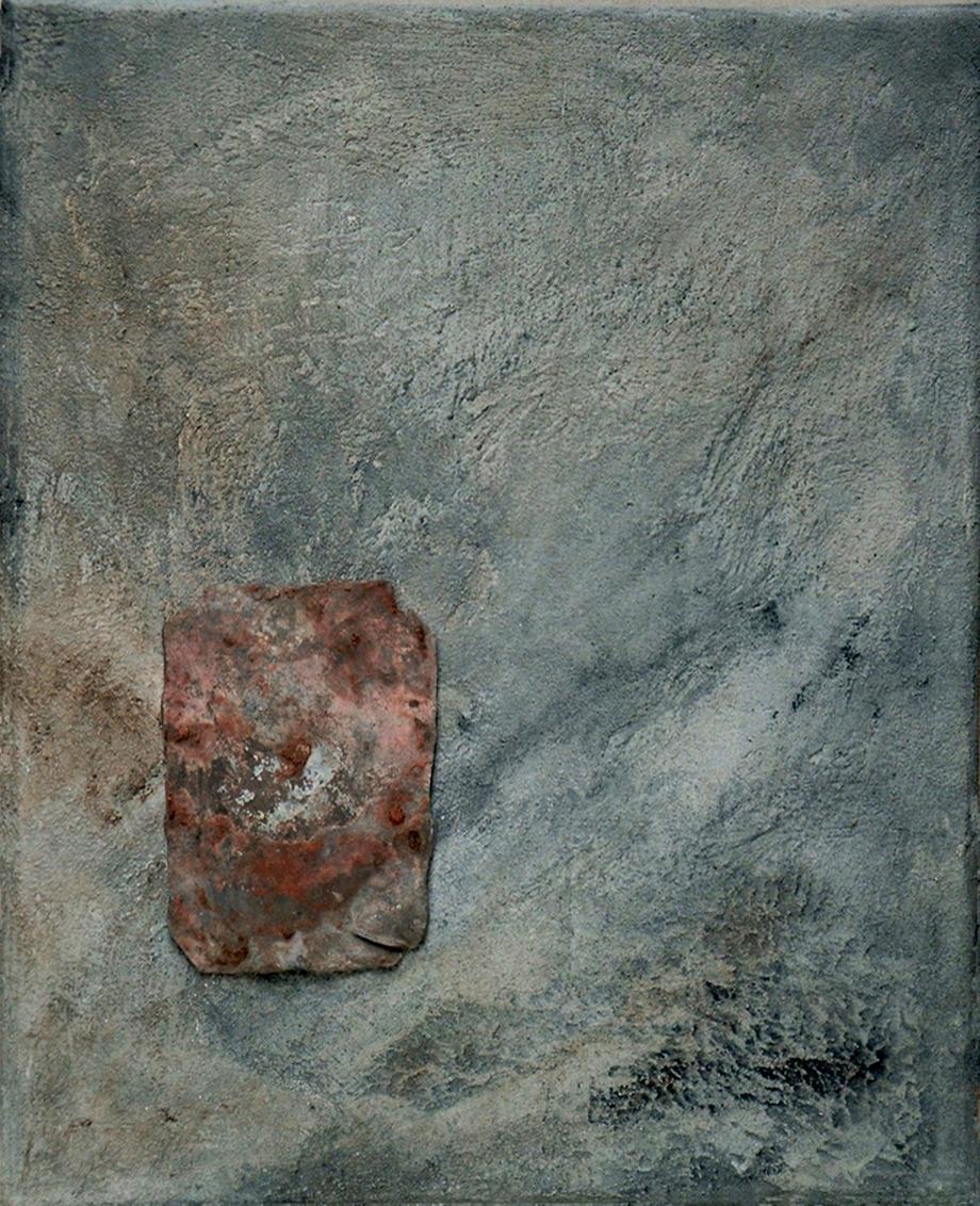 Gespräch mit dem Stein 15 - Bleiblech - Hilke Knoblauch